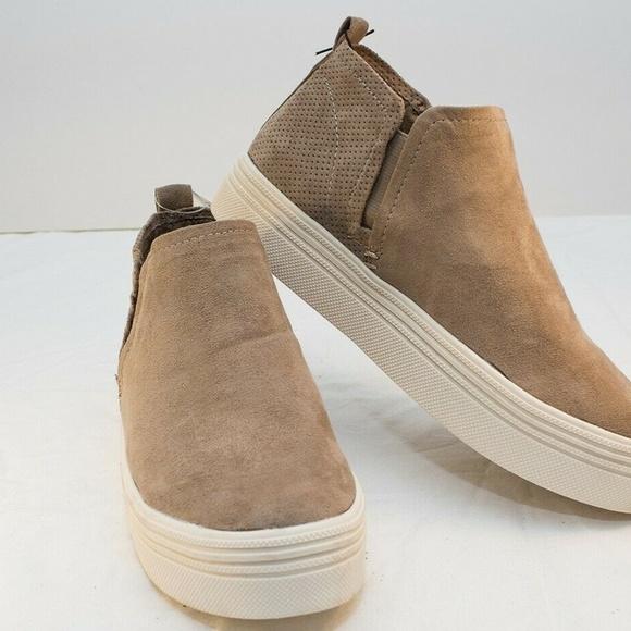 Womens Liz Microsuede High Top Sneakers